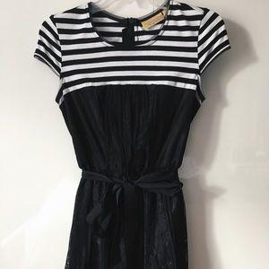 Stripe and Lace Dress